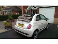 Stunning Fiat 500 Convertible. Pearlescent white finish, great condition and full service history.