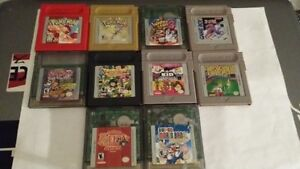 10 Game Boy Color games for sale. Pokemon Red Pokemon Gold KENTV