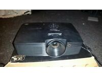 Optoma DX342 projector and big screen