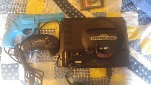SEGA GENESIS 13 games and blue justifier gun Cornwall Ontario image 3