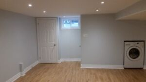 Newly renovated Separate Entrance basement for rent