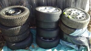 TIRES 3 sets    winter    and all season