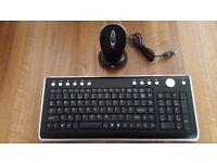 Wireless multimedia keyboard/wireless optical mouse