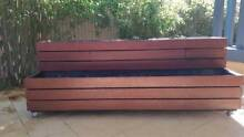 Large Planter Box - merbau lined two tier on wheels Southern River Gosnells Area Preview