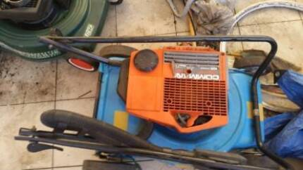 victa 2 stroke good condition blue and yellow