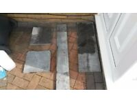 4 pieces of slate