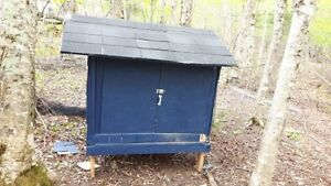 Chicken coop for sale, less then one year old.