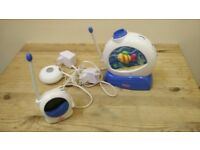 FISHER PRICE AQUARIUM BABY MONITOR WITH MUSIC PROJECTOR.
