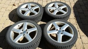 VW OEM 17 inch Alloy Mags and Winter Tires
