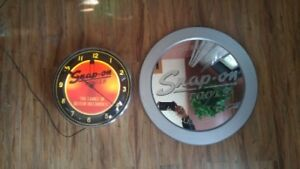 snap on clock and mirror