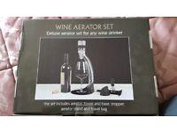 Brand new deluxe wine aerator set for any wine drinker. Unopened, still in packaging.