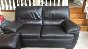 Leather Sofa Set (couch, loveseat, ottoman) Perfect Condition