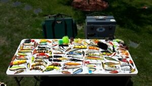 101 muskie / pike lures, 2 tackle boxes, fishing, lot