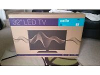 """BRAND NEW 32"""" Led TV Cello with T2 Freeview High Definition"""