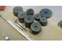 Vinyl Weight Lifting Plates and Bars