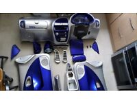 AM Cruiser Style Interior,Front/rear bumpers,lights,Seats +Belts, 2 Mufflers, Seat Belts and alloys