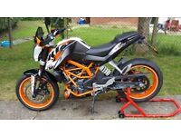 KTM 390 Duke in Immaculate Condition with low miles and tasteful extras