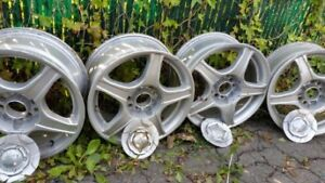 Alloy rims with covers