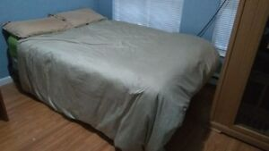 Free bed mattress, boxspring, metal bed frames and futon.