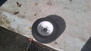Small Trailer Tire W/Rim
