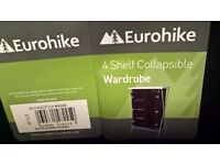 Eurohike 4 shelf collapsible wardrobe