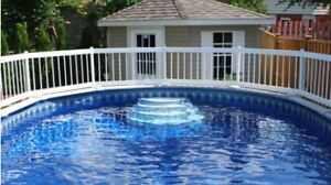 """Above-ground swimming Pool Fence- 50' x 24"""" Tall"""