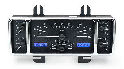 1940 Ford Car Vhx Instrument (black Alloy Face, Blue Display)