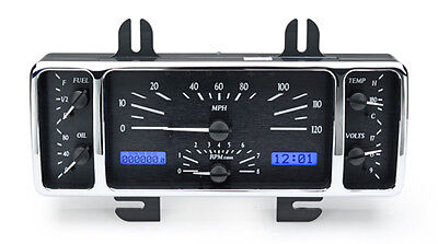 1940 Ford Car Vhx Instrument (black Alloy Face, Red Display)