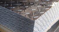 "(3) 4' x 8' 1/4"" ALUMINUM DIAMOND PLATE SHEETS"