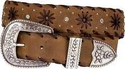 Ladies Leather Western Belts