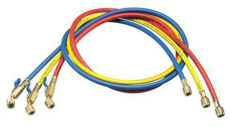 YELLOW JACKET 29984 Manifold Hose Set,Low Loss,48 In