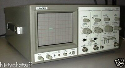 Leader Electronics 20 Mhz 2-ch Oscilloscope Model 1020 30 Day Warranty.