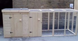 New Dog Kennel & Run 12ft x 4ft