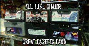 Tire Chains $25 +up each