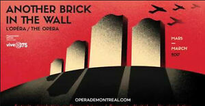 Another Brick in the Wall / L'Opéra, 24/03/2017, Place des Arts
