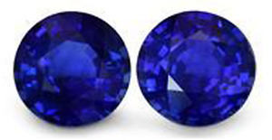 1 Set of Natural 5 Star Royal Blue Sapphires - Make me an Offer