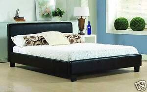 brand new double size /modern designed black leather bed +used ma Mont Albert Whitehorse Area Preview