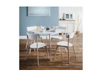 Julian Bowen Kitchen table and 4 chairs - NEW