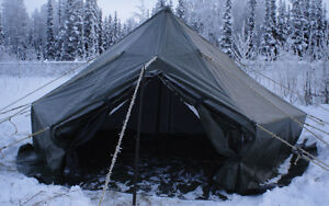 Instant Hunt camp... including wood stove.
