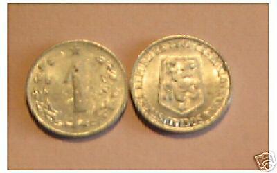 1 x 1 Haleru  1962   alu  Tchèque