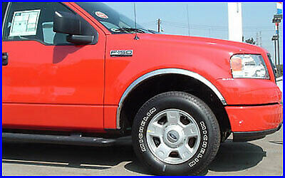 FENDER TRIM FOR FORD F-150 04-14 Mirror Polished Stainless Steel Molding