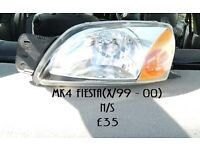 MK4 Ford Fiesta n/s headlight in excellent condition and working order with bulbs.