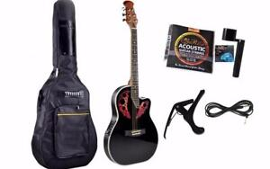 Round back Acoustic Guitar Brand New 42 ich installed EQ Deviser iVA05