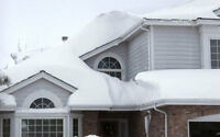 ROOFER (514) 549-3350 - SNOW REMOVAL - LEAKING ROOF  REPAIR