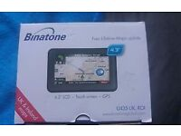 BINATONE SAT NAV FULLY BOXED ONLY USED TWICE