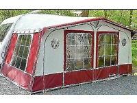 Isabella Caravan Awning - suited to a 4m Caravan