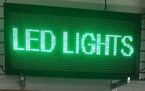 LED PROGRAMMABLE SCROLLING SIGNS 3-COLORS (40X8) $174.99