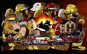Firefighter print by James Long.