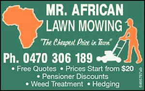 MR. AFRICAN LAWN MOWING Logan Central Logan Area Preview