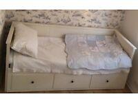 single white waffle bedding set